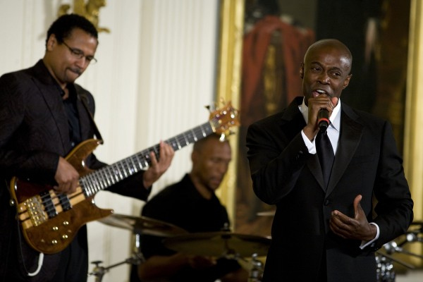 Performing with Kem at the White House